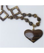 Tiger Iron fabulous Necklace - One of a kind Tiger Eye jewel - $59.00