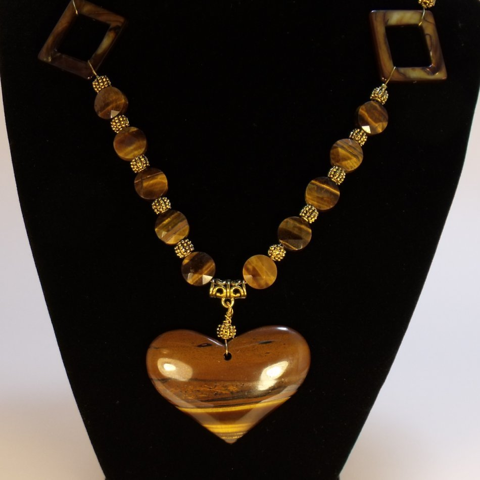 Tiger Iron fabulous Necklace - One of a kind Tiger Eye jewel
