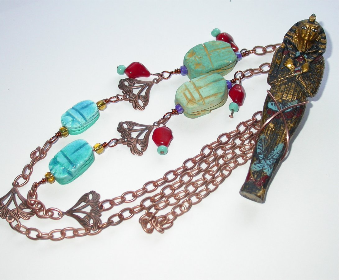 Tutankhamen - Necklace from King Tut exhibition in New York