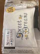 Bucilla Sweet Dreams Pillowcases Stamped vtg new - $29.99
