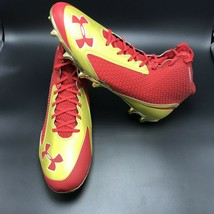 Under Armour  Football Nitro Cleats Red/Gold Size 14E 1252684-601 - $47.50