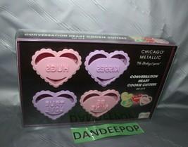 Chicago Metallic Conversation Hearts 8 Piece Cookie Cutter Baking Set - $34.64
