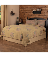 Country Log Patchwork Cabin Rustic Star 4/PC Quilt Set King Queen Gift S... - $180.95+