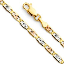 14K Solid Tri Color Gold Italy Valentino Star C... - $156.13 - $226.26