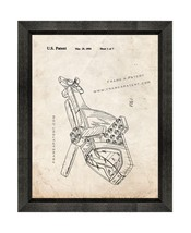 Lego Toy Helicopter Patent Print Old Look with Beveled Wood Frame - $24.95+