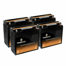 12V 20AH Rechargeable Deep Cycle Sealed Lead Acid Multi-Purpose Battery 4 Pack - $168.30