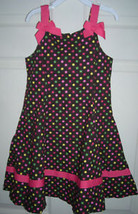 Gymboree Brown With Dots Bows Dress Age 6 SZ 6 - $20.00