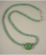 Sterling Silver and Turquoise Necklace - $52.00