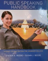 Public speaking hand book Steven a Beebe 2nd custom edition for Crowder ... - $12.19