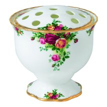 "Royal Albert ""Old Country Roses""  Bowl Arrangement Vase BONE CHINA 22K GOLD NEW. - $94.75"