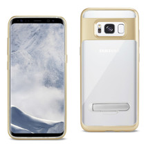 REIKO SAMSUNG GALAXY S8 EDGE/ S8 PLUS TRANSPRANT BUMPER CASE WITH KICKST... - $8.38
