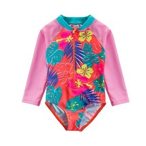 Wishere Baby Girl One-Piece Swimsuit Sunsuit Rash Guard - $17.28