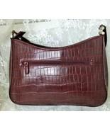 "Worthington Women's Faux Leather Shoulder Bag 9"" x 11.5"" x 3"" Burgundy - $23.47"