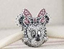 Pandora Sterling Silver Sparkling Disney Minnie Portrait Charm - $45.00