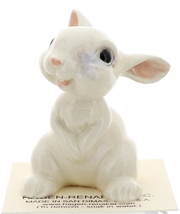 Hagen-Renaker Miniature Ceramic Rabbit Figurine Large White Baby