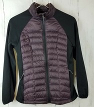 WEATHERPROOF 32 DEGREES  Small Plum Black Quilted Lightweight Down Puffe... - $29.92