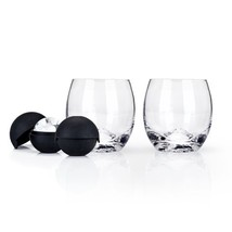 Tumbler Cups, Glacier Rocks Vintage Elegant Glass Insulated Tumbler, Wit... - $33.79