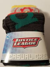 THE FLASH Batman JUSTICE LEAGUE movie BOOK New Mens 5 Pair CREW SOCKS sh... - $20.95
