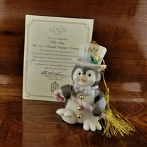 2001 Annual Lenox Chilly Chap Penguin Christmas Tree Ornament COA - $14.95