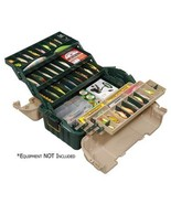 Plano Hip Roof Tackle Box w/6-Trays - Green/Sandstone - $43.99