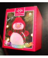 Lenox Wonder Ball Snowman Christmas Ornament Red Knit Hat Lit Ornament B... - $19.99