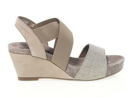 Sandalo basso MEPHISTO BARBARA in camoscio beige - Scarpe Donna - $164.30