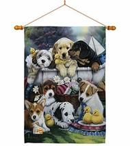Breeze Decor HS110046-BO-03 Bath Time Pups Nature Pets Decorative Vertic... - $46.15