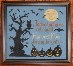 All Hallows Eve halloween cross stitch chart Waxing Moon Designs - $7.20