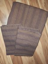 Calvin Klein Khaki Collection Amara Brown Stripe Duvet Cover & Shams 100... - $74.20
