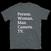person woman man camera tv / person woman man camera tv T-Shirt image 10