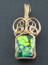 Fused Glass Pendant 14 K Gold Filled Wire - $44.55