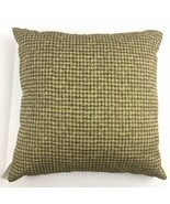 Vesper Lane Houndstooth Throw Pillow Brown Beige Decorative Square Neutr... - $15.79