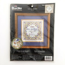 Bucilla Love One Another Counted Cross Stitch Kit 43265 Religious Weddin... - $12.55