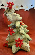 1994 Dreamsicles Christmas Cherub On Christmas Tree Signed Figurine Cast Art image 2