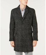 MK Michael Kors Lyndon Mens Slim Fit Black & White Glen Plaid Top Coat M... - $90.00