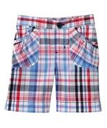 Jumping Beans Girls Toddler Bermuda Plaid Red White Blue Shorts 3T - $11.99