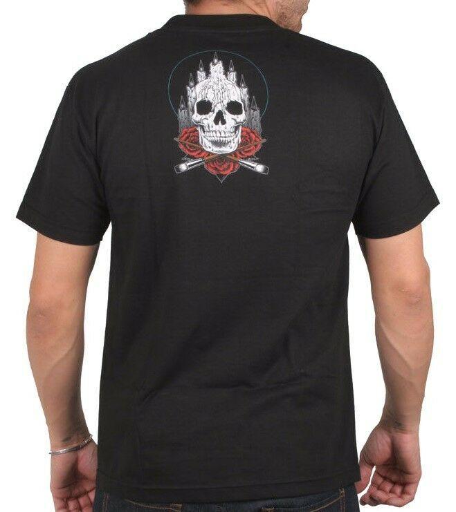 Sullen Art Collective Noir Hommes Autel Crâne Roses Encré Tatouage Goth Pull NW