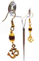 Main Om Rudraksha Earrings Jewelry Jhumka Crochet Pendants Gouttes Hindu... - $4.69