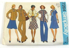 Simplicity Sewing Pattern 7264 Jacket Skirt Pants Uncut Size 14 Bust 36 ... - $7.99