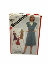 Simplicity 5196 Misses Set Of Jumpers Sewing Pattern Size 16-20 Vintage - $9.89