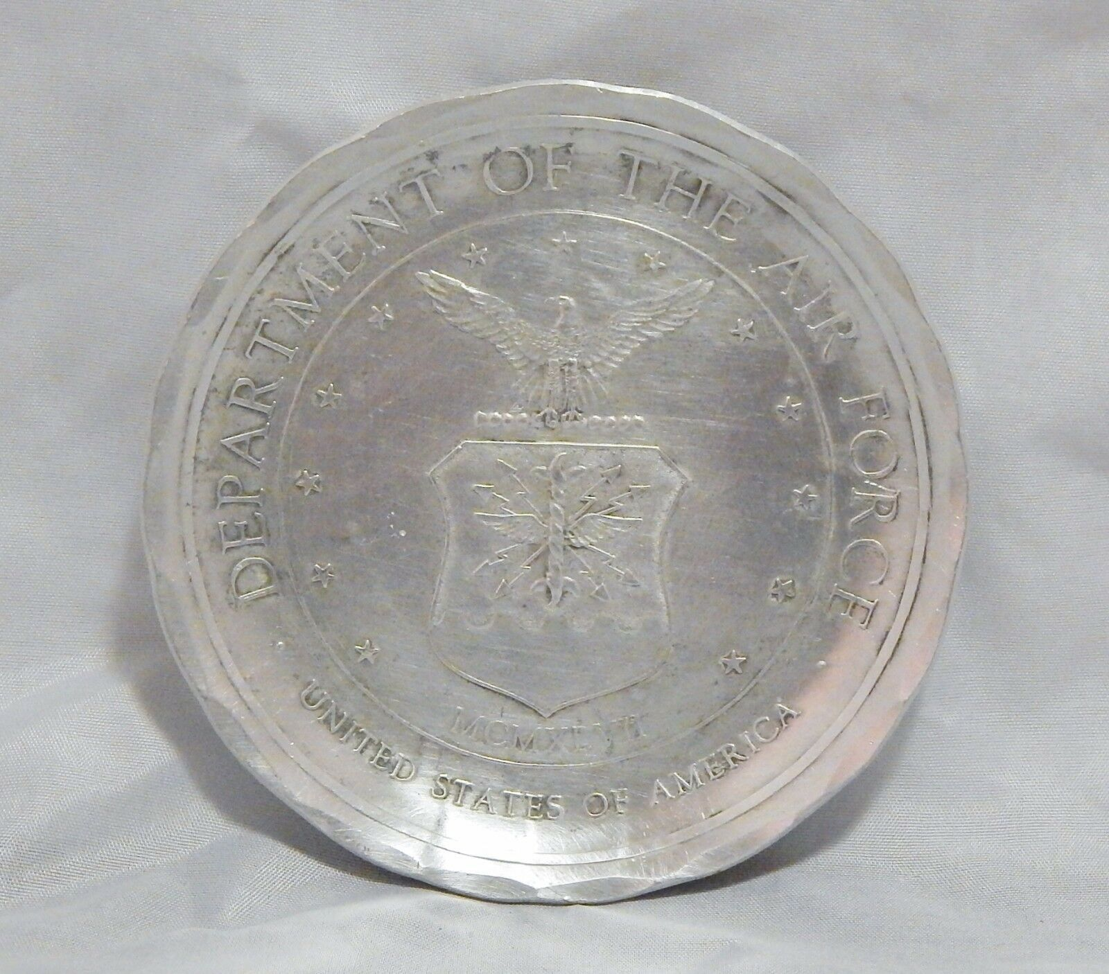 "Wendell August Forge 4 3/8"" Department of the Air Force Plate"