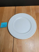 Wedgwood Edme Luncheon Plate Off White Embossed Ribbing on Rim - $12.82