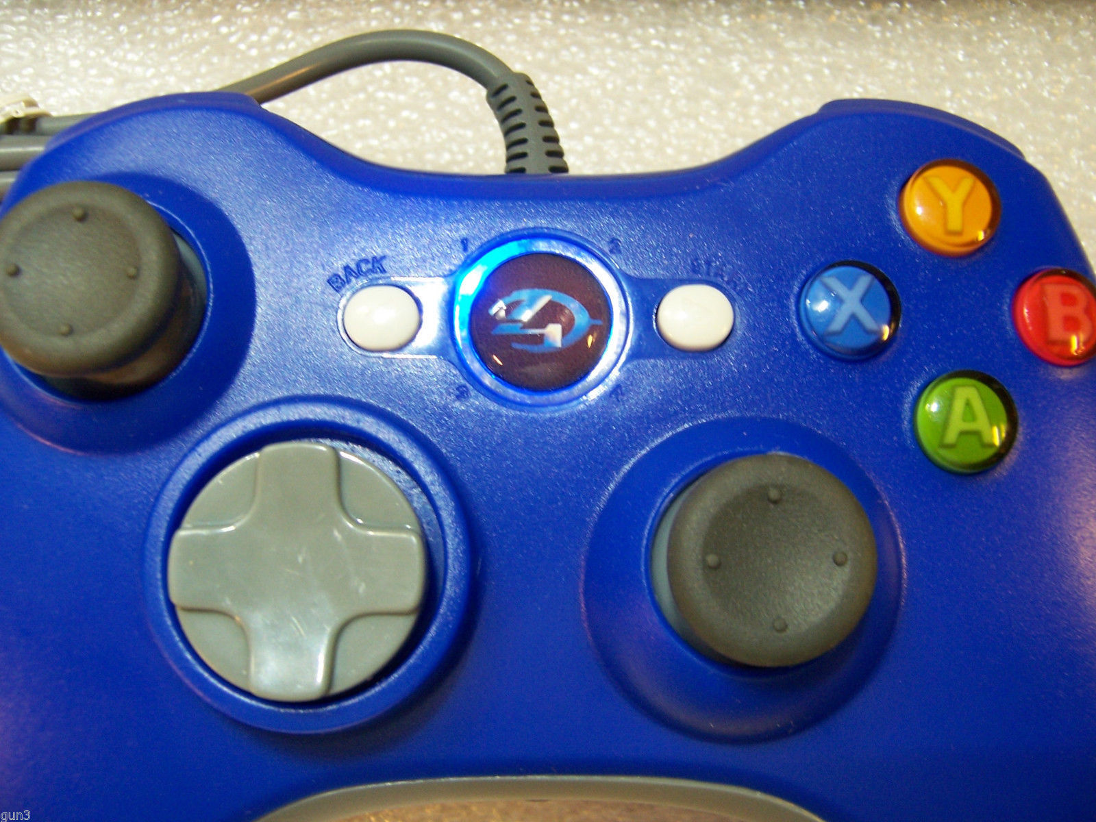 CUSTOM XBOX 360 WIRED CONTROLLER - BLUE, HALO 4 GUIDE ...