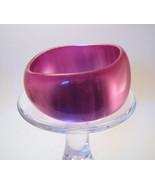 Bangle Bracelet Lucite Shimmering Iridescent Pink  - $9.99