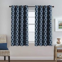 Thermal Insulated Blackout Curtains 63 length Three Pass Microfiber Nois... - $34.54