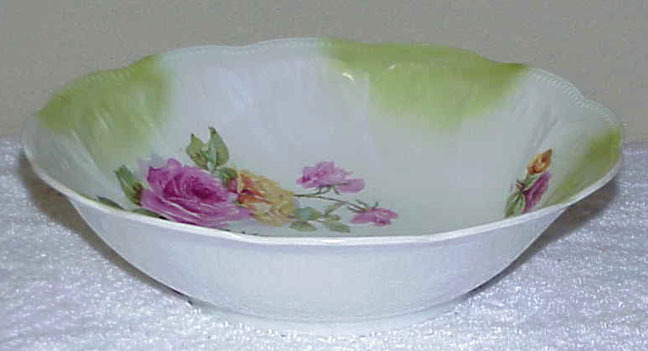 Vintage 9-Inch Porcelain Bowl - ROSES