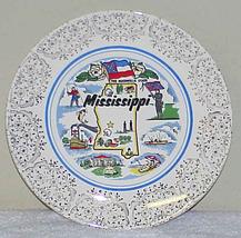 Vintage Souvenir Plate - MISSISSIPPI - The Magnolia State - $8.99