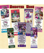 Monster High Birthday Invitation 10 ea with Envelopes Personalized Custo... - $11.00