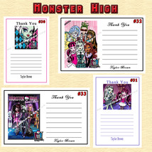 Monster High Birthday Thank You Cards 10 ea Personalized Custom Made - $5.50