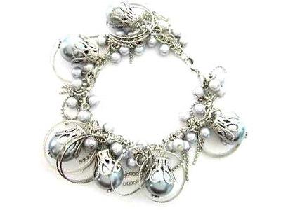 044bg gray sea shell pearl bracelet